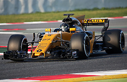 February 27, 2017 - Barcelona, Spain - The Renault of Nico Hulkenberg during the Formula 1 tests held in the Barcelona-Catalunya Circuit, on february 27, 2017. Photo: Jordi Galbany/Urbanandsport/Nurphoto  (Credit Image: © Jordi Galbany/NurPhoto via ZUMA Press)