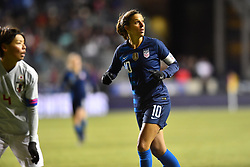 February 27, 2019 - Chester, PA, U.S. - CHESTER, PA - FEBRUARY 27: US Midfielder Carli Lloyd (10) looks for a pass in the second half during the She Believes Cup game between Japan and the United States on February 27, 2019 at Talen Energy Stadium in Chester, PA. (Photo by Kyle Ross/Icon Sportswire) (Credit Image: © Kyle Ross/Icon SMI via ZUMA Press)