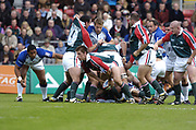 Leicester, England UK., 9th October 2004,  Zurich Premiership Rugby, Leicester Tigers vs Bath Rugby, Welford Road,<br /> [Mandatory Credit: Peter Spurrier/Intersport Images],<br /> Brett Deacon acting as scrum half.