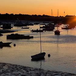 Sunset at Annisquam Harbor, in Gloucester, Massachusetts.