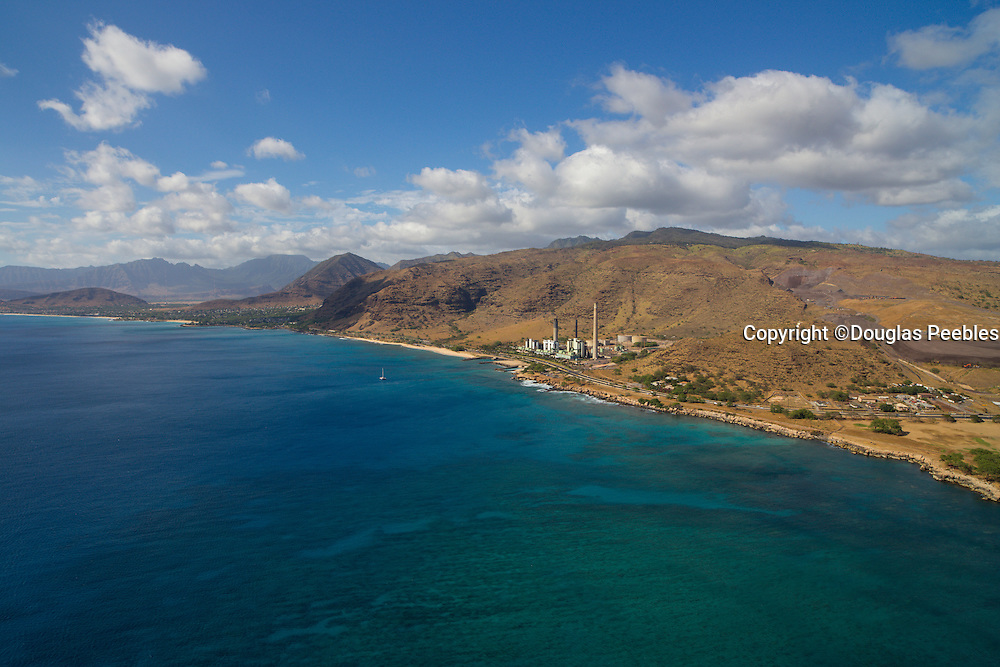 Hawaiian Electric; Heco, Kahe Power, Oahu; Hawaii; aerial
