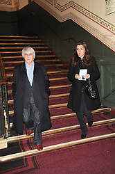 BERNIE ECCLESTONE and FABIANA FLOSI at the gala opening night of Cirque du Soleil's Varekai at the Royal Albert Hall, London on 5th January 2010.