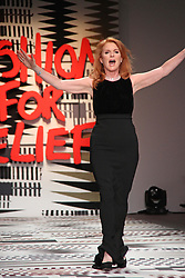 Sarah Ferguson, LFW a/w 2015: Fashion For Relief - Catwalk Show & Fundraiser, Somerset House, London UK, 19 February 2015, Photo By Brett D. Cove ©under licence to London News Pictures. +44 (0)208 354 4272