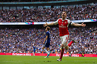 Arsenal's Aaron Ramsey celebrates scoring his sides second goal       <br /> <br /> <br /> Photographer Craig Mercer/CameraSport<br /> <br /> The Emirates FA Cup Final - Arsenal v Chelsea - Saturday 27th May 2017 - Wembley Stadium - London<br />  <br /> World Copyright © 2017 CameraSport. All rights reserved. 43 Linden Ave. Countesthorpe. Leicester. England. LE8 5PG - Tel: +44 (0) 116 277 4147 - admin@camerasport.com - www.camerasport.com