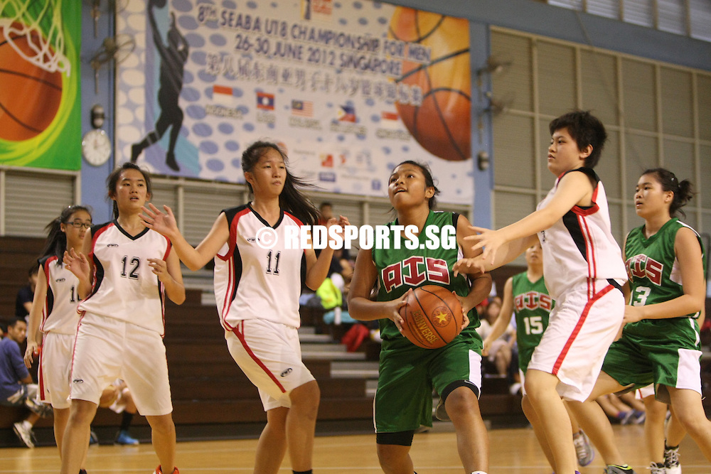 Singapore Basketball Centre, Wednesday, February 20, 2013 – It was a comfortable 40-27 win over Yishun Secondary for Ahmad Ibrahim Secondary in Round 2 of the North Zone B Division Girls' Basketball Championship.<br /> <br /> Story: http://redsports.sg/2013/02/22/north-zone-b-div-bball-girls-ahmad-ibrahim-yishun/
