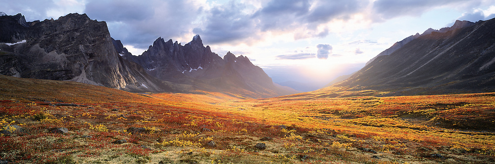 Sunset in the heart of Tombstone, Yukon