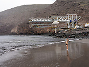 Rupert's Bay, the only beach on the island where Local can Swim<br /> <br /> St. Helena island, part of the British Overseas Territory, measures just 6 by 10 miles and comprises 47 square miles of rocky coastline, colored desert, rippled pastureland and lush cloud forest. This speck of land is one of the most remote islands on earth.<br /> <br /> Since discovery in 1502, until the start of commercial flights in October 2017, the sea route had been the only way to reach St Helena. At its peak more than 1,000 ships a year visited on the way to and from India and the Far East via the Cape of Good Hope. That declined after 1869 with the opening of the Suez Canal.
