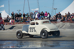 Josh Fredette's 1934 Ford 5W Coupe from NH racing the Race of Gentlemen. Wildwood, NJ, USA. October 10, 2015.  Photography ©2015 Michael Lichter.