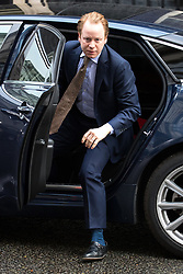 © Licensed to London News Pictures . 29/03/2017 . London , UK . BEN GUMMER arrives . Ministers arriving and leaving for a Cabinet meeting and Prime Minster's Questions , at 10 Downing Street , Westminster . Today (29th March 2017) the British Government will trigger Article 50 of the Lisbon Treaty and commence Britain's withdrawal from the European Union . Photo credit : Joel Goodman/LNP