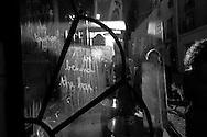 France. Paris. the horse shoe bar  Paris  France in   Le Marais, .  Horseshoe Shaped Counter in Bar  / Le petit fer a cheval, Bar traaditionel du Marais