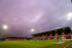 Pink sky over the One Call Stadium, home to Mansfield Town at half time - Mandatory by-line: Ryan Crockett/JMP - 05/12/2020 - FOOTBALL - One Call Stadium - Mansfield, England - Mansfield Town v Crawley Town - Sky Bet League Two