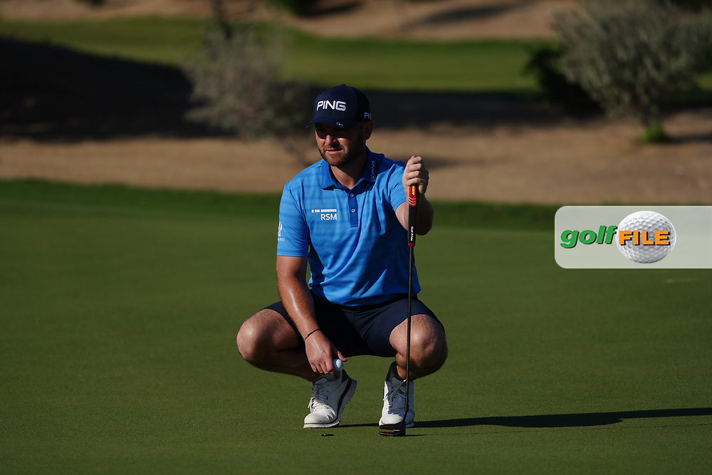 Andy Sullivan (ENG) on the 1st during the Pro-Am of the Commercial Bank Qatar Masters 2020 at the Education City Golf Club, Doha, Qatar . 04/03/2020<br /> Picture: Golffile   Thos Caffrey<br /> <br /> <br /> All photo usage must carry mandatory copyright credit (© Golffile   Thos Caffrey)