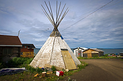 The village of Lutsel K'e (aka Snowdrift) is shown July 22, 2011 in the Northwest Territories of Canada.