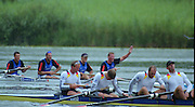 Lucerne, SWITZERLAND, GBR M4- Bow James CRACKNELL 2. Steve REGRAVE, 3. Tim FOSTER and stroke Matt PINSENT.   orground GER M4- Bow Bernd HEIDICKER,  2. Ulrich VIEFERS 3. Philipp STUEER and stroke Martin ASHOLT  2000 FISA World Cup, Rotsee Rowing Course, June 2000.  [Mandatory Credit, Peter Spurrier/Intersport-images] 2000 FISA World Cup, Lucerne, SWITZERLAND