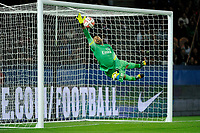 Italian goalkeeper Salvatore Sirigu of Paris Saint Germain in action during the French Championship Ligue 1 football match between Paris Saint Germain and Olympique Lyonnais on September 21, 2014 at Parc Des Princes stadium in Paris, France. Photo Jean Marie Hervio / Regamedia / DPPI