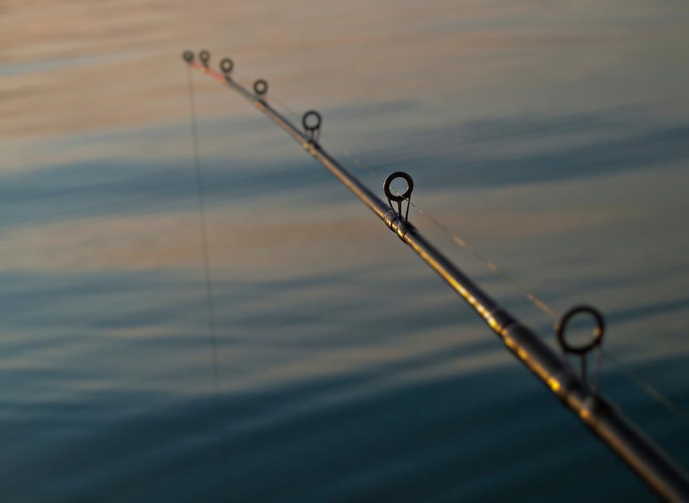 Norway - Fishing rod during sunset
