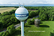 63807-01015 Wooden water tower for steam engines on railroad Kinmundy, IL