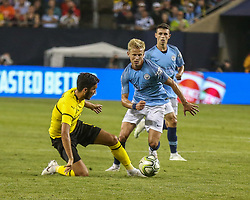 July 20, 2018 - Friday July 20 - Manchester City midfielder Oleksandr Zinchenko (35) attempts to take shot on goal during International Champions Cup play between Manchester City vs  Borussia Dortmund at Soldier Field in Chicago, IL (Credit Image: © Gary Duncan Sr via ZUMA Wire)
