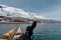 Havkajakk på Andørja, Norge - Sea kayak at Andørja, Norway
