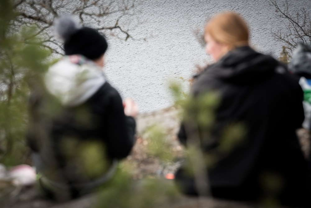 8 April 2017, Stockholm, Sweden: On 8 April, the Skarpnäck Parish of the Church of Sweden organized a pilgrimage on the theme of Easter, with some 25 participants, walking through the Nacka Nature Reserve.