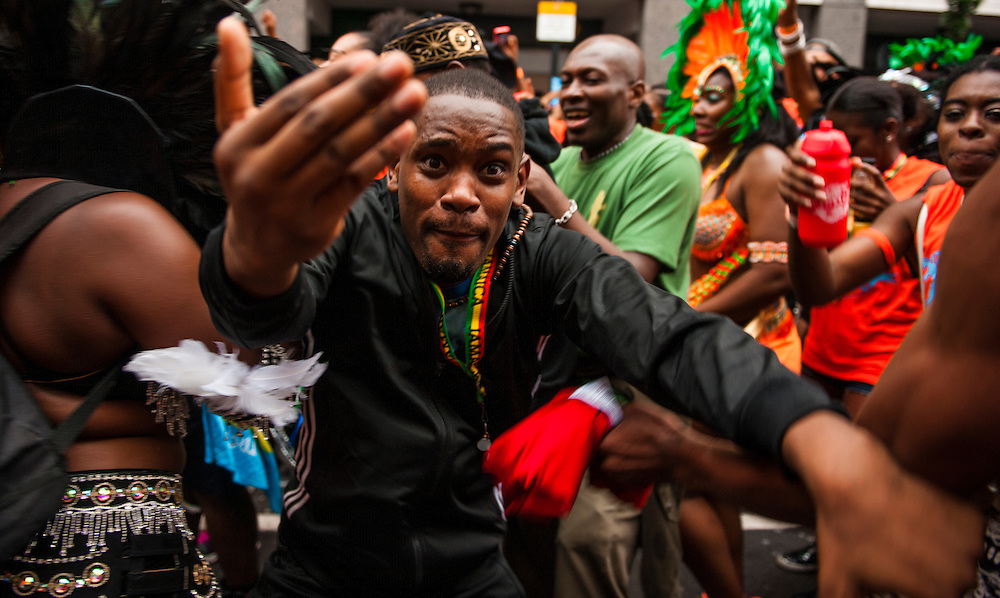 Festival goers attend the Notting Hill Carnival, London, August 31, 2015. <br /> <br /> © Jack Megaw, 2015. <br /> <br /> www.jackmegaw.com