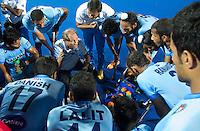 BHUBANESWAR (India) -  Roelant Oltmans, coach van Pakistan. Gekte rond de halve finalewedstrijd tuusen India en Pakistan bij de Champions Trophy hockey. Bij India is Roelant oltmans de bondscoach . Pakistan won verrassend door in de laatste minuut te scoren. ANP KOEN SUYK
