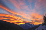 Summit Sunset, Sunset Clouds, Interstate 70, Outside West Side of Eisenhower Tunnel, Loveland Pass, Colorado Rocky Mountains, Continental Divide, Summit County Colorado
