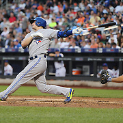 Josh Donaldson, Toronto Blue Jays, batting during the New York Mets Vs Toronto Blue Jays MLB regular season baseball game at Citi Field, Queens, New York. USA. 15th June 2015. Photo Tim Clayton