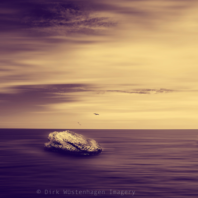 Rock in the Atlantic - monochrome image<br /> Society6 products: http://bit.ly/2lqTwJX