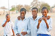 School children in the village of Seronga in the Okavango Delta, Botswana