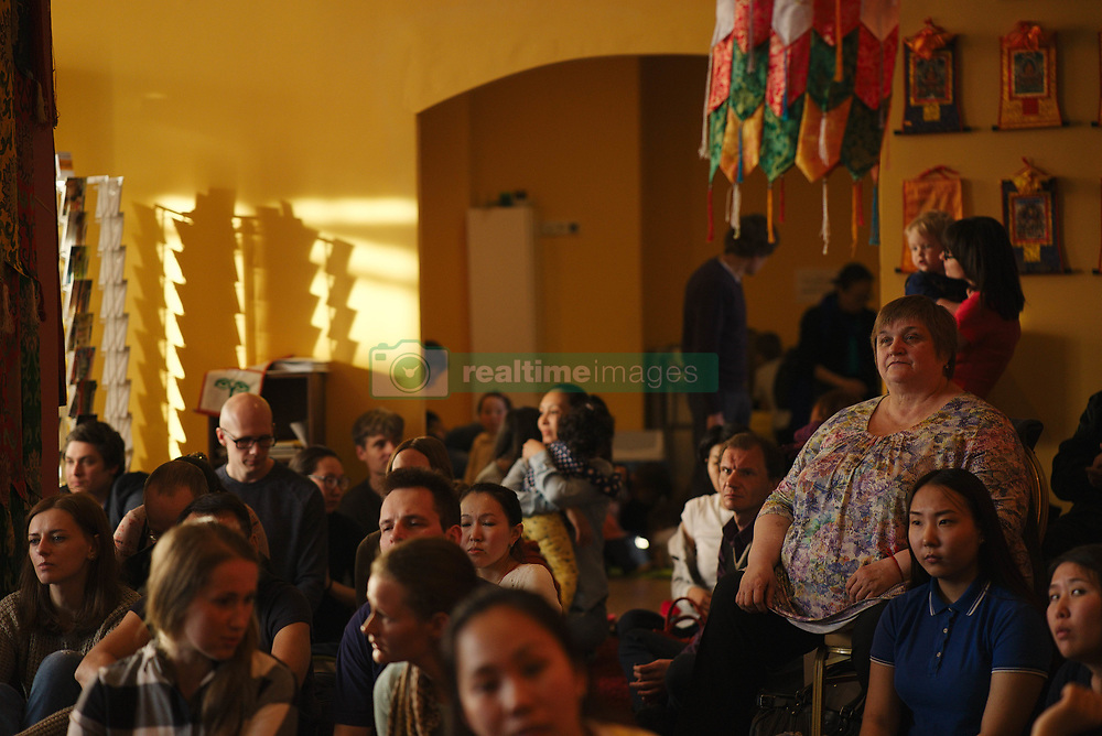 June 4, 2017 - Moscow, Russia - Moscow Buddhist center of Lama Tsongkhapa, opened in 2017.Tibetan monk Chusang Rinpoche from the monastery Sara May visits Russia with lectures on the foundations of Buddhism.Buddhism is gaining popularity in large cities of Russia as a kind of opposition to fastened rhythm of life.Many ethnic Russians turn to Buddhism nowadays. In addition, there are peoples in Russia of the Kalmyks, Buryats, Tuvinians, and others, who have Buddhism as a main religion.There are several different Buddhist centers in Moscow, but so far there's no datsan, although they talk about building it. (Credit Image: © Dmitry Ermakov/NurPhoto via ZUMA Press)