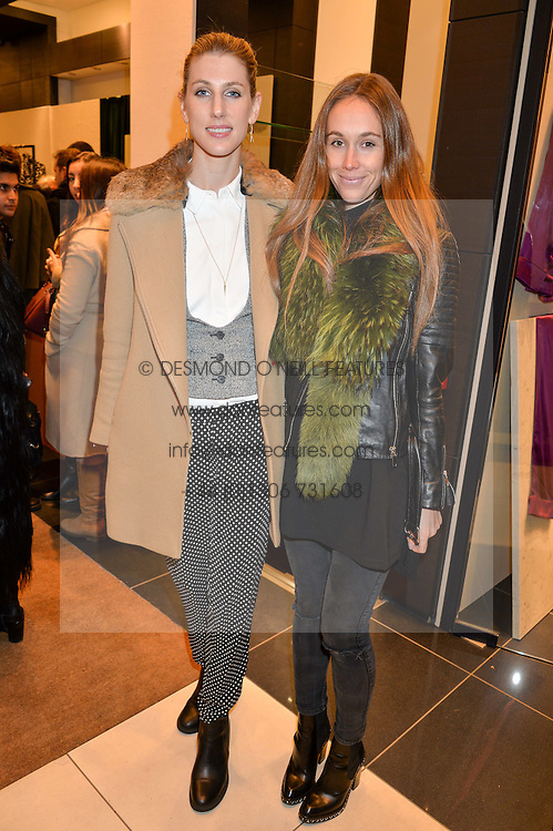 Left to right, SUSANNA WARREN and EVEIE LONGDON at a party to celebrate the launch of Olivia von Halle, 151 Sloane Street, London on 25thNovember 2015