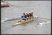 Henley on Thames,  United Kingdom, AUS M4X, <br /> Bow, Richard POWELL, Brenton TERRELL, Paul REEDY, Peter ANTONIE, 1988 Henley Royal Regatta, Henley Reach, Thames Valley, British Summertime.<br /> [Mandatory Credit, Peter SPURRIER/Intersport Images] <br /> <br /> Scans from Positives, April 2019