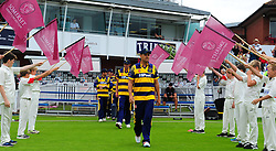 Jacques Rudolph leads the Glamorgan team out.  - Mandatory by-line: Alex Davidson/JMP - 24/07/2016 - CRICKET - Cooper Associates County Ground - Taunton, United Kingdom - Somerset v Glamorgan - Royal London One Day