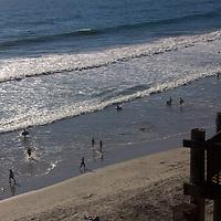 USA, California, Encinitas. D Street Beach, Encinitas.