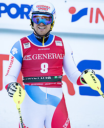 29.12.2016, Deborah Compagnoni Rennstrecke, Santa Caterina, ITA, FIS Ski Weltcup, Santa Caterina, alpine Kombination, Herren, Slalom, im Bild Mauro Caviezel (SUI) // Mauro Caviezel of Switzerland reacts after his run of Slalom competition for the men's Alpine combination of FIS Ski Alpine World Cup at the Deborah Compagnoni race course in Santa Caterina, Italy on 2016/12/29. EXPA Pictures © 2016, PhotoCredit: EXPA/ Johann Groder