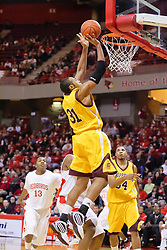 05 December 2009: Jalin Thomas gets free for a lay up. The Chippewas of Central Michigan are defeated by the Redbirds of Illinois State 75-62 on Doug Collins Court inside Redbird Arena in Normal Illinois.