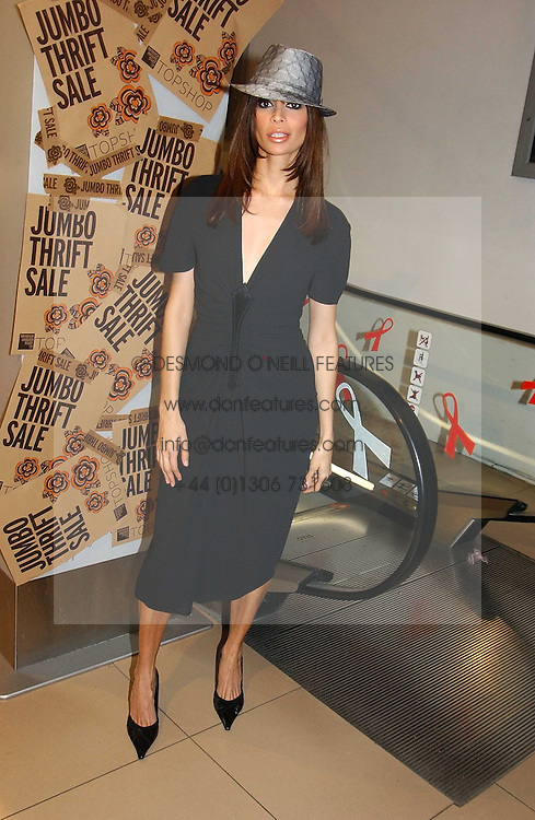 LISA B at a Topshop hosted Jumbo Thrift Sale - a sale of designer fashion, in association with the Terence Higgins Trust for World Aids Day, held at Topshop, Oxford Circus, London on 1st December 2004.<br /><br />NON EXCLUSIVE - WORLD RIGHTS