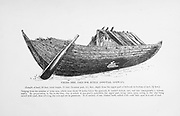 Viking Ship used for Burial (Gokstad, Norway) from the book '  The viking age: the early history, manners, and customs of the ancestors of the English speaking nations ' by Du Chaillu, (Paul Belloni), 1835-1903 Publication date 1889 by C. Scribner's sons in New York,
