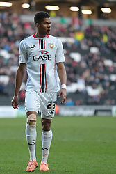 Milton Keynes Dons' Jordan Spence - Photo mandatory by-line: Nigel Pitts-Drake/JMP - Tel: Mobile: 07966 386802 01/02/2014 - SPORT - FOOTBALL - Stadium MK - Milton Keynes - MK Dons v Tranmere Rovers - Sky Bet League One