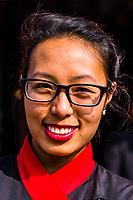 Nepali woman, Bhaktapur, Kathmandu Valley, Nepal.