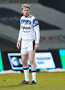 Bath Rugby's fly-half Rhys Priestland during a Gallagher Premiership Round 9 Rugby Union match, Friday, Feb 12, 2021, in Leicester, United Kingdom. (Steve Flynn/Image of Sport)