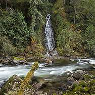 Eureka Falls flows into Silverhope Creek just outside the borders of Silver Lake Provincial Park near Hope, British Columbia, Canada
