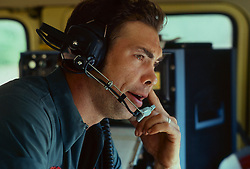 Stock photo of the command center operations for oilfield frac operation