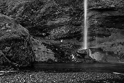 The watarfall, Seljalandsfoss, Iceland -