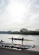 Caversham. Berkshire. UK<br /> Pair return after an outing at the <br /> 2016 GBRowing U23 Trials at the GBRowing Training base near Reading, Berkshire.<br /> <br /> Tuesday  12/04/2016<br /> <br /> [Mandatory Credit; Peter SPURRIER/Intersport-images]