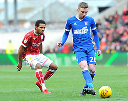 Korey Smith of Bristol City chases down Freddie Sears of Ipswich Town - Mandatory by-line: Nizaam Jones/JMP - 17/03/2018 - FOOTBALL - Ashton Gate Stadium- Bristol, England - Bristol City v Ipswich Town - Sky Bet Championship