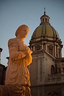 The Renaissance fountain at Piazza Pretoria, one of the city symbols