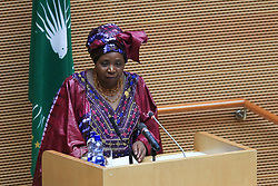 ADDIS ABABA, Jan. 30, 2014  African Union Commission Chairperson Nkosazana Dlamini-Zuma addresses the opening ceremony of the 22nd African Union summit in Addis Ababa, Ethiopia, Jan. 30, 2014. The 22nd African Union summit opened in Ethiopia's capital on Thursday with rallying calls for the continent to enhance peace and transform its agriculture to eradicate poverty and quicken development. (Credit Image: © Meng Chenguang/Xinhua/ZUMAPRESS.com)
