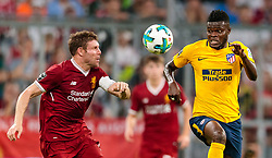 02.08.2017, Allianz Arena, Muenchen, GER, Audi Cup, FC Liverpool vs Atletico Madrid, Finale, im Bild James Millner (FC Liverpool), Thomas Partey (Atletico Madrid) // during the Audi Cup Final Match between FC Liverpool and Atletico Madrid at the Allianz Arena, Munich, Germany on 2017/08/02. EXPA Pictures © 2017, PhotoCredit: EXPA/ JFK